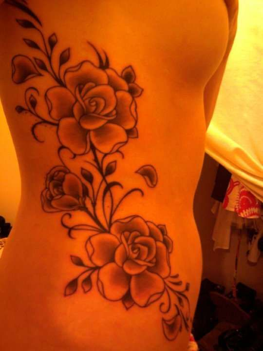Side Flower Tattoo Designs: Flower Tattoo On Side