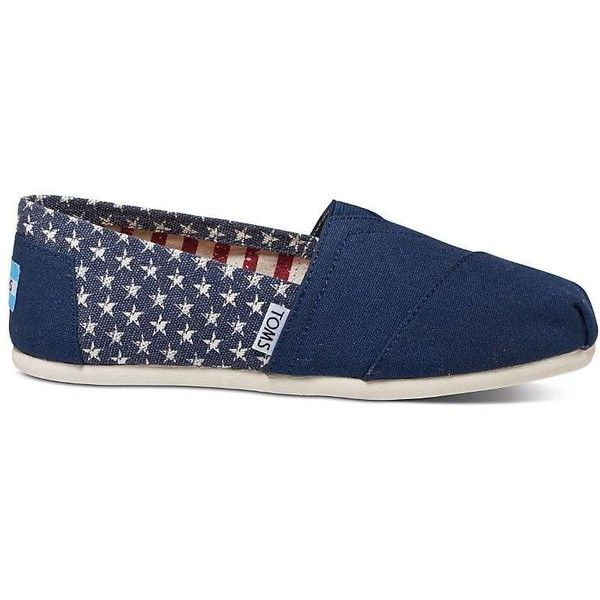 TOMS Women's Classics Shoe ($55) ❤ liked on Polyvore featuring shoes, toms footwear, flexible shoes, toms shoes, elastic shoes and stitch shoes