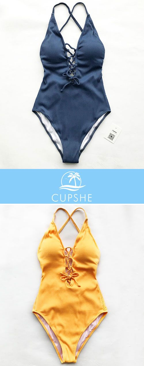 New Arrival! Find a beach and rewind, Ladies! Reward yourself with a relaxed beach trip and fabulous swimwear. Check out the breath-taking Cupshe Remind Me Solid One-piece Swimsuit, Free shipping & Shop Now!