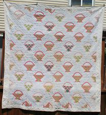 Antique Pennsylvania 1800's Basket Quilt 1870's Calico, eBay, whisper-hill: 1870S, Color, Antiquevintag Quilts, Antique Quilts, Antiques Quilts, Antiques Pennsylvania, 1800S