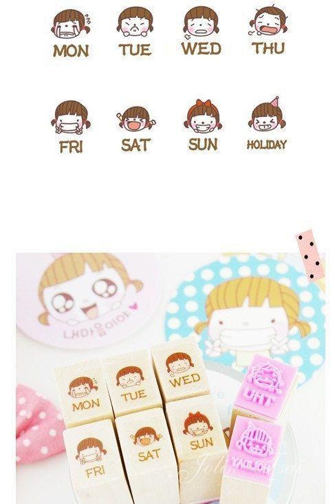 Super Kawaii stamps.  Schedule by cinderella.