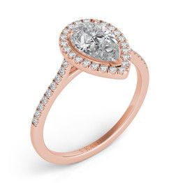 Pear Diamond and Rose Gold Engagement Rings | Andrews Jewelers, Buffalo NY