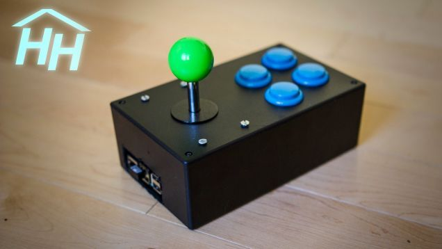 The Raspberry Pi is easily the best way to make your own little retro game console, but Hacker House took it a step further by cramming a Pi inside a homemade joystick to make it super portable.