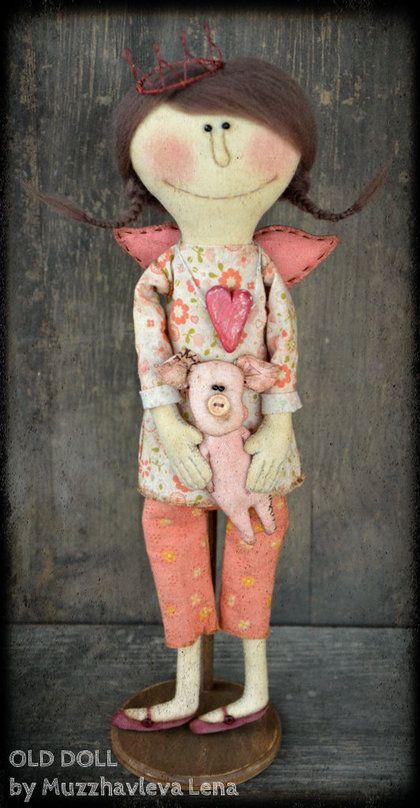 """Коллекционные куклы ручной работы. Ярмарка Мастеров - ручная работа """"Девочка, которую все любили..)"""" Интерьерная примитивная кукла. Handmade..."""