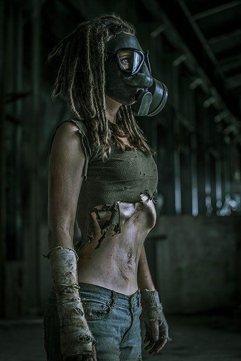 Enviralmental - The Survivor - Post Apocalypse Gas mask enviromental grunge grime dirty high contrast hdr harsh