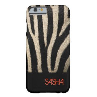 Zebra Skin Textured Pattern Personalized Barely There iPhone 6 Case