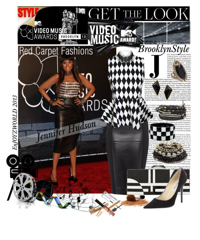 GET The LOOK: On The Red Carpet with Jennifer Hudson @ the VMAs by enjoyzworld on Polyvore featuring polyvore, fashion, style, Isabel de Pedro, Jimmy Choo, KOTUR, Chan Luu, Lisa Freede, Oasis, GUESS, Belle Noel by Kim Kardashian, Elementem Photography, Mineral, clothing, GetTheLook, RedCarpet and jenniferhudson