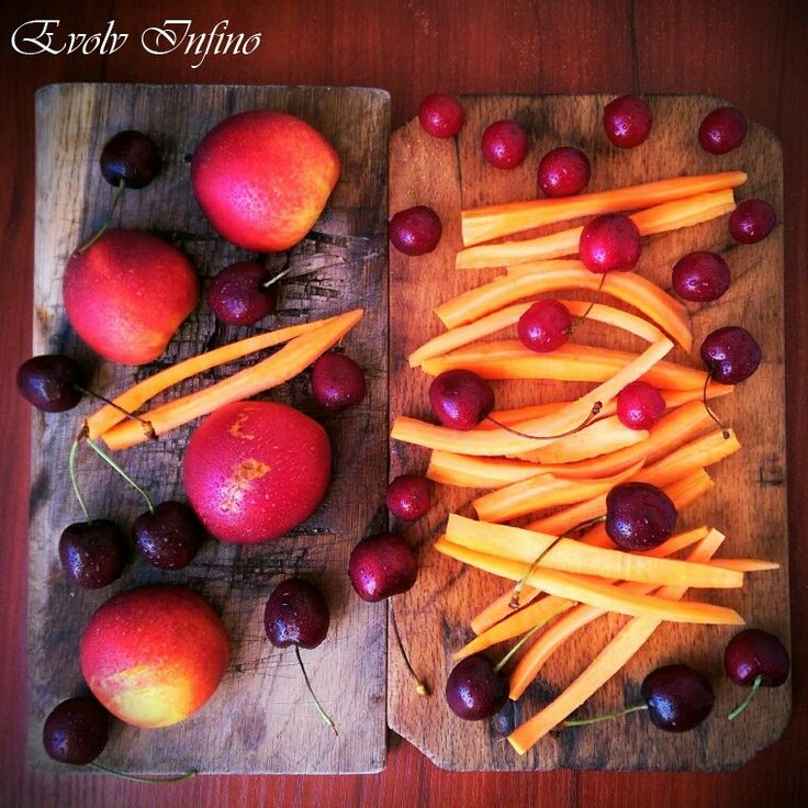 Nectarines, Cherries & Carrots - Raw Vegan Snack