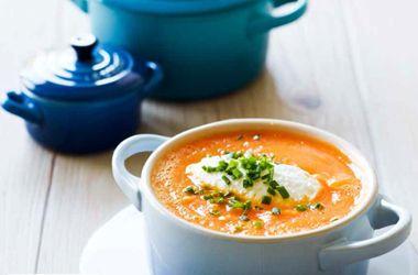 Gulerodssuppe med røde linser