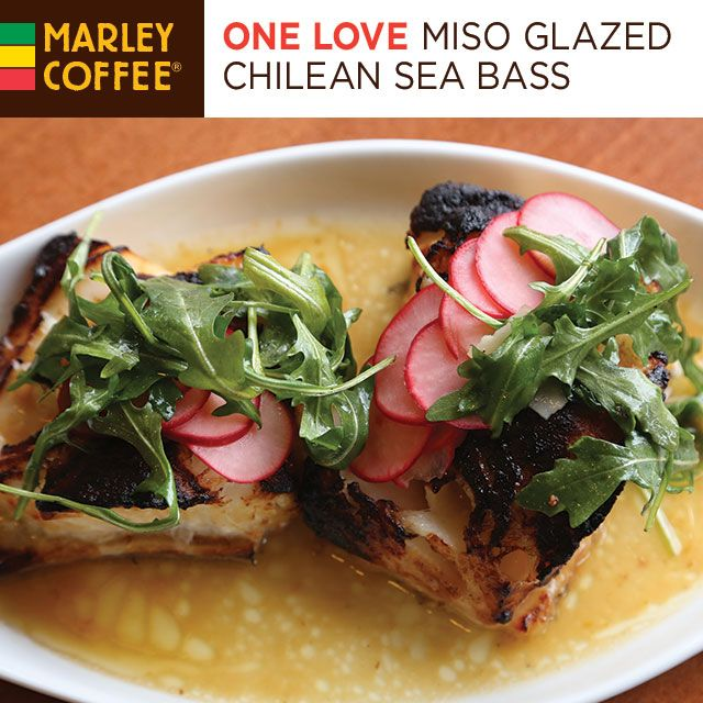 Cooking with Coffee: Marley Coffee and Miso Glazed Chilean Sea Bass