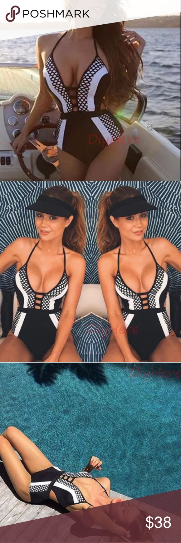 One piece monokini push-up Sexy One Piece Swimwear Swimsuit Bathing Monokini Push Up Padded Bikini. Material: polyester and spandex. Full coverage in behind                                                                    ⭐️please read size chart before ordering Swim One Pieces