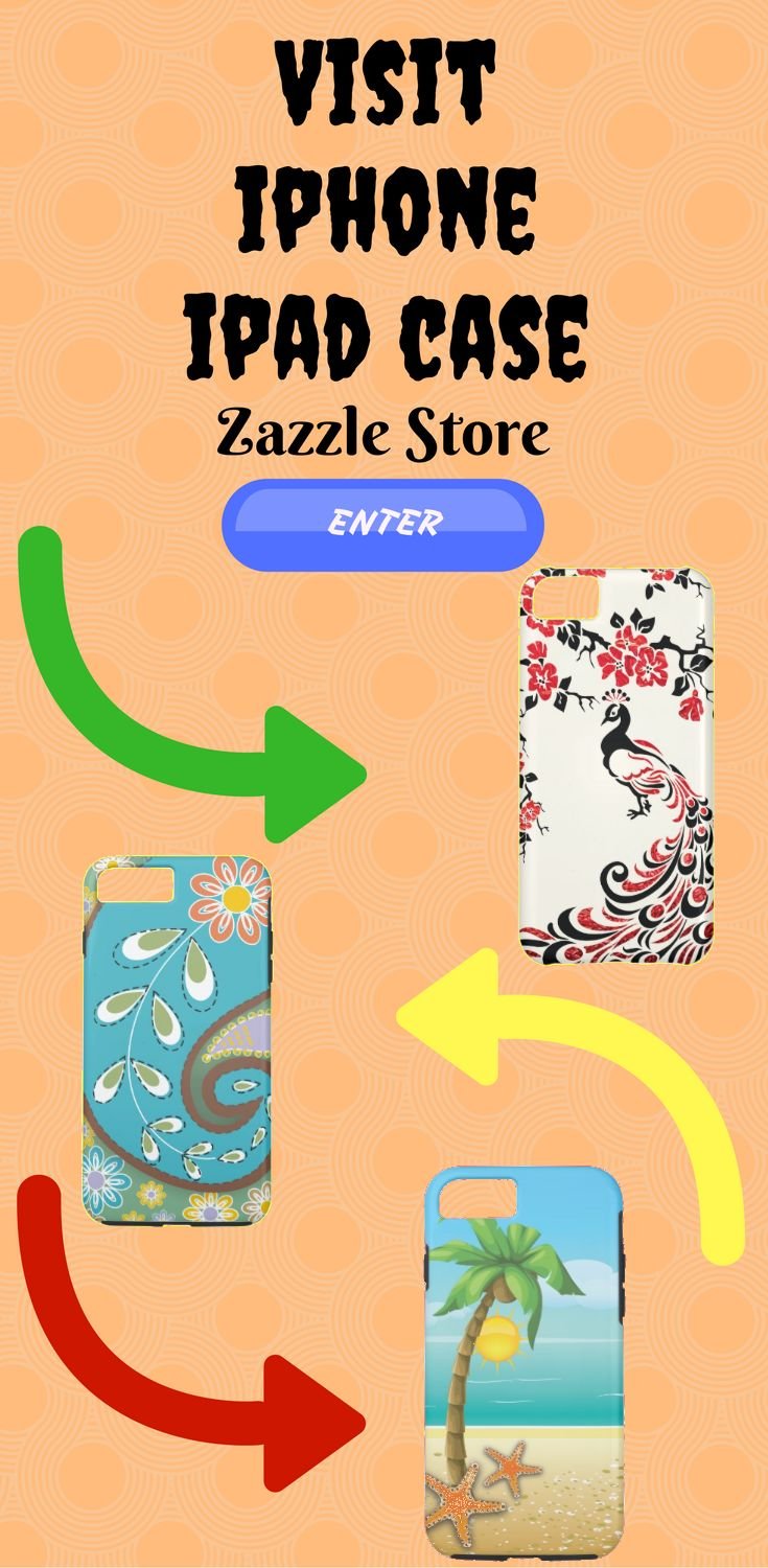 Visit Iphone_Ipad_Case Zazzle Store and take look at many unique design for cases for you Iphone and Ipad.