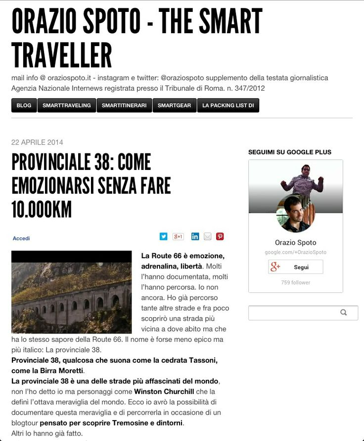 La provinciale 38 è una delle strade più affascinati del mondo... E Orazio Spoto di Instagramers Italia non vede l'ora di percorrerla in occasione del blogtour #tremosinewhatelse... Leggete cliccando l'immagine!