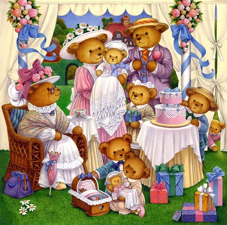 Картинки для детей семья медведей