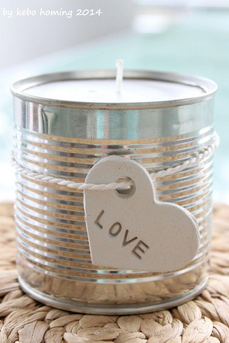 Kerze aus Kerzenstumpen und Konserve / Candlelight…