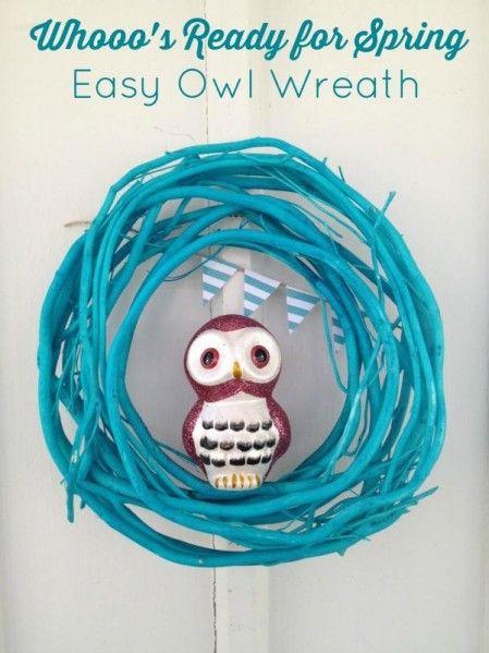 Dollar store craft: owl wreath