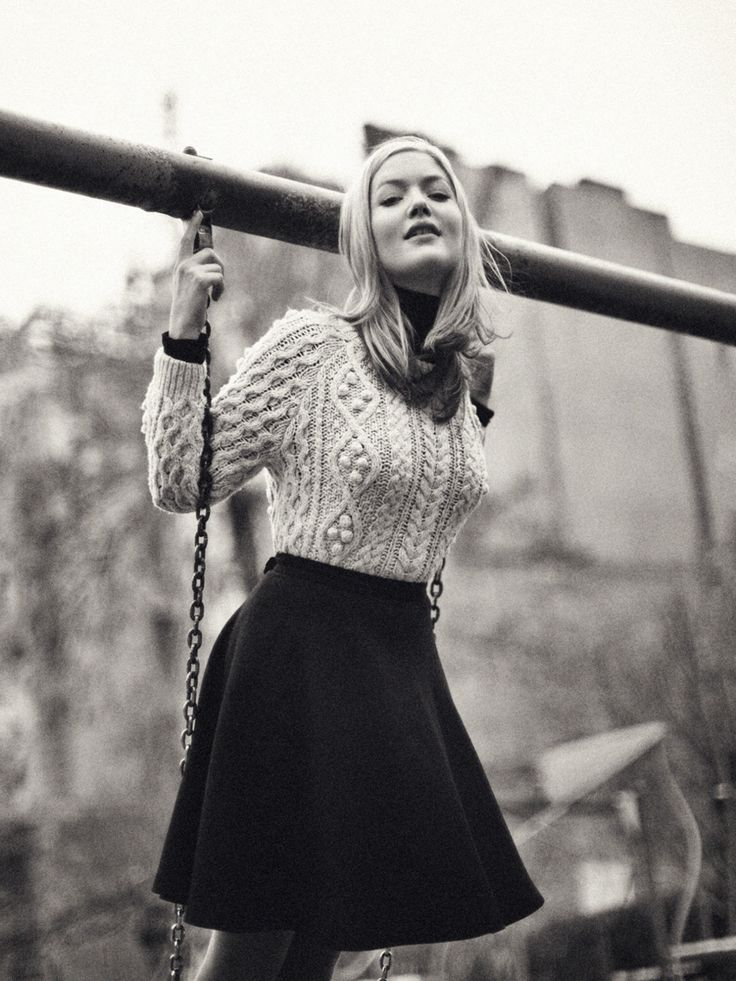 Sweater and Skirt. Holliday Grainger from The Borgias