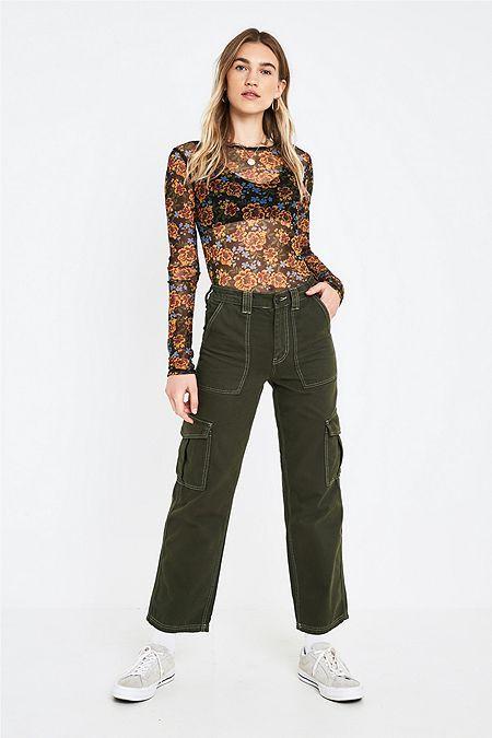 buy popular 2382d a147e BDG Khaki Elastic Waistband Skate Jeans