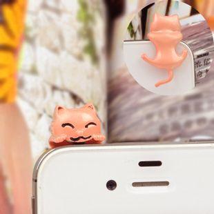 Hanging cat 3.5mm dustplug alloy diy bling phone deco D38 | chriszcoolstuff - Craft Supplies on ArtFire