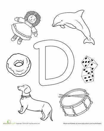 Letter D Coloring Pages Of Alphabet D Letter Words For