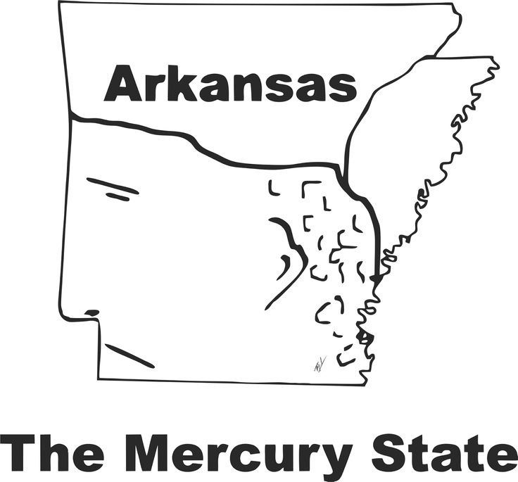 Funny maps: A funny map of Arkansas
