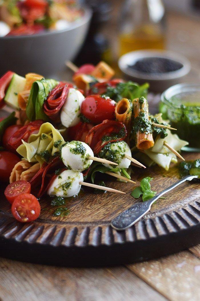 Pasta Salat Spiesse – Pasta Salad Skewers