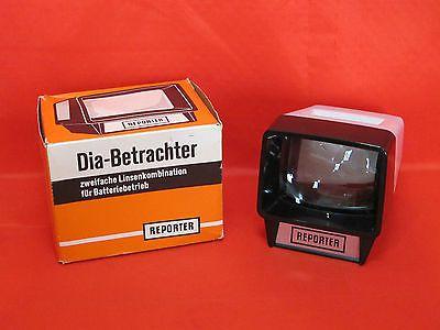 REPORTER Dia-Betrachter 2 Fache Linsenkombination für Batteriebetrieb in OVP