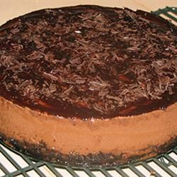 Fudge Truffle Cheesecake. Decadent! Topped with ganache and chocolate ...