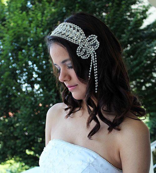 Wedding Rhinestone  Headband Bridal Headband Bridal by ADbrdal