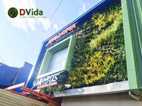 Jardín vertical instalado en empresa de buses Nar Bus de la ciudad de Temuco.