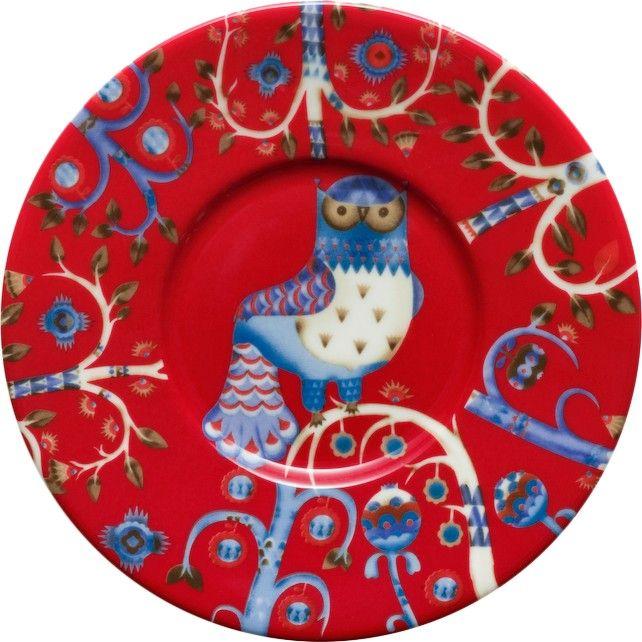Iittala - Taika Saucer 15 cm red - Iittala.com
