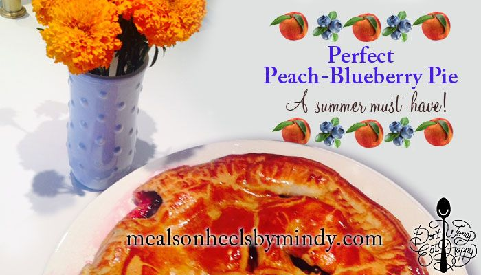 Sweet Tooth: The Perfect Peach-Blueberry Pie! It's Eat a Peach Day! Celebrate with this blend of sweet and tart! #peach #summer