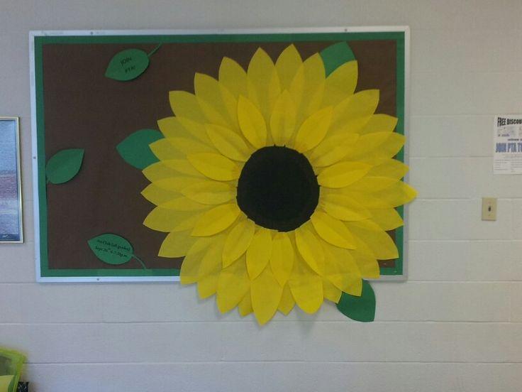 Sunflower bulletin board summer/fall