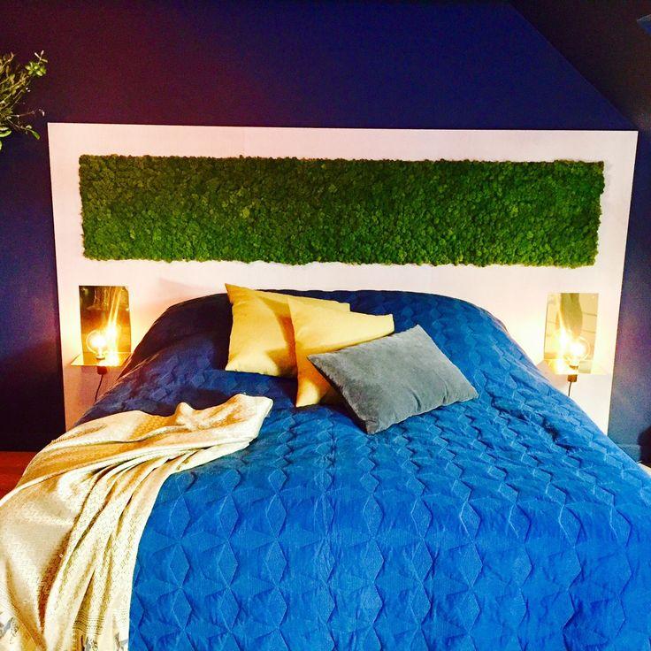 Mosevegg integrert i sengegavl