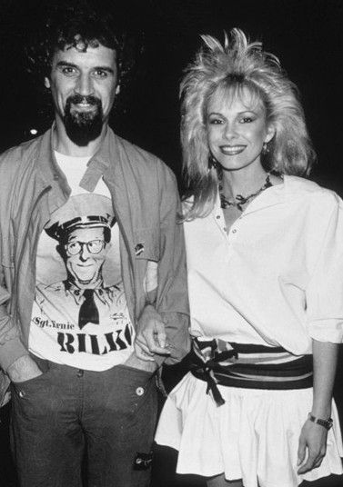 Billy Connolly with wife Pamela Stephenson in 1982 outside Langans Restaurant in London