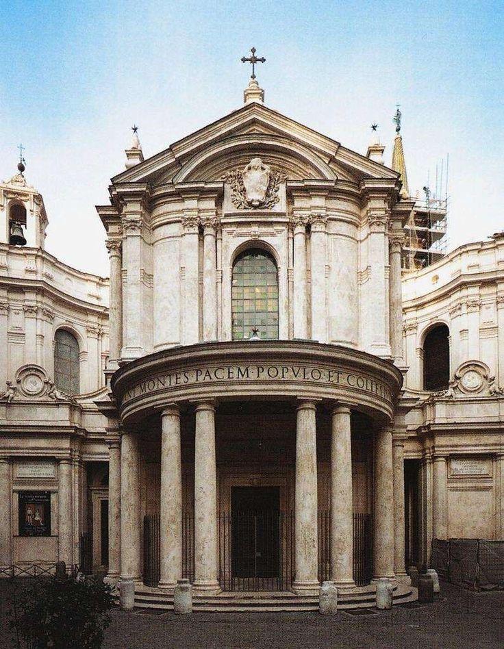 Donato Bramante - Santa María della Pace (1500 - 15004) I love this place. The cloister inside actually has a cafe.