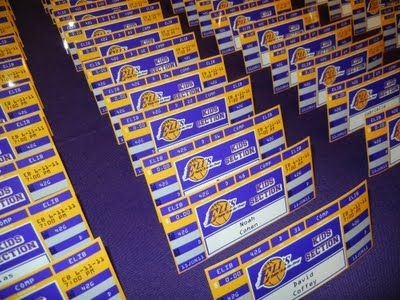 Setting the Mood: LAKERS INSPIRED MITZVAH For a basketball bar mitzvah