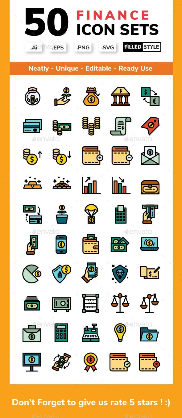 Finance Filled Line Credit Card Icon Icon Finance