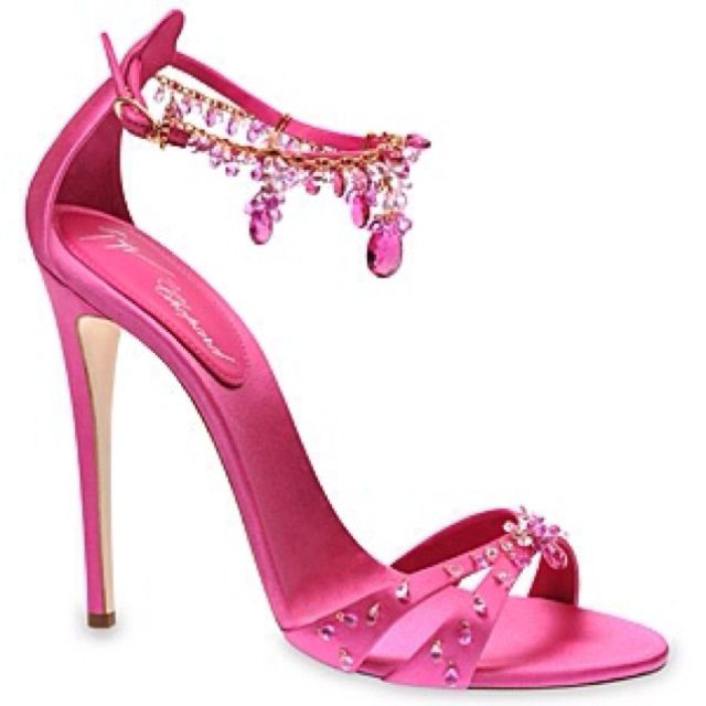 Italian shoe designer Giuseppe Zanotti and Chopard designa pair of pink high-heels covered with  360 carats of pink diamonds  price : $180,000