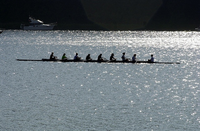 Crew team rowing in Lake Washington, 2002 by Seattle Municipal Archives, via Flickr