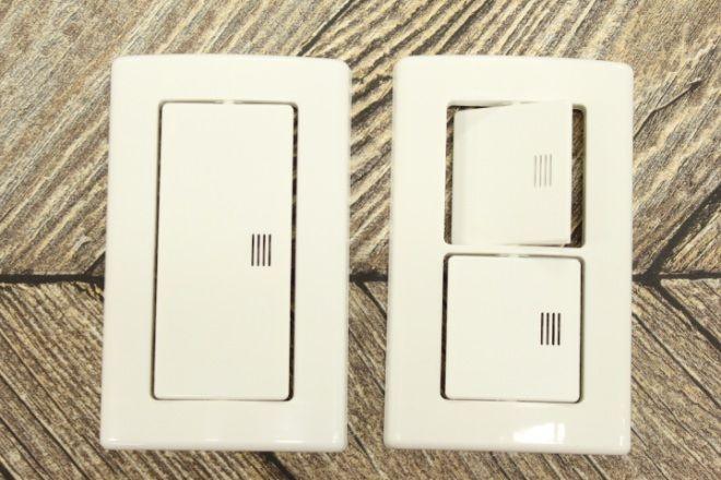 ぺたっと貼るだけ 電気スイッチが今風に 100均 らくらくスイッチ えんウチ 電気スイッチ 100均 インテリア 家具
