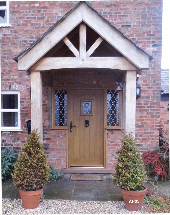 Oak Door External Angled Head