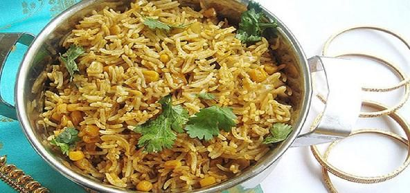 Spicy Sweet Corn Pulav