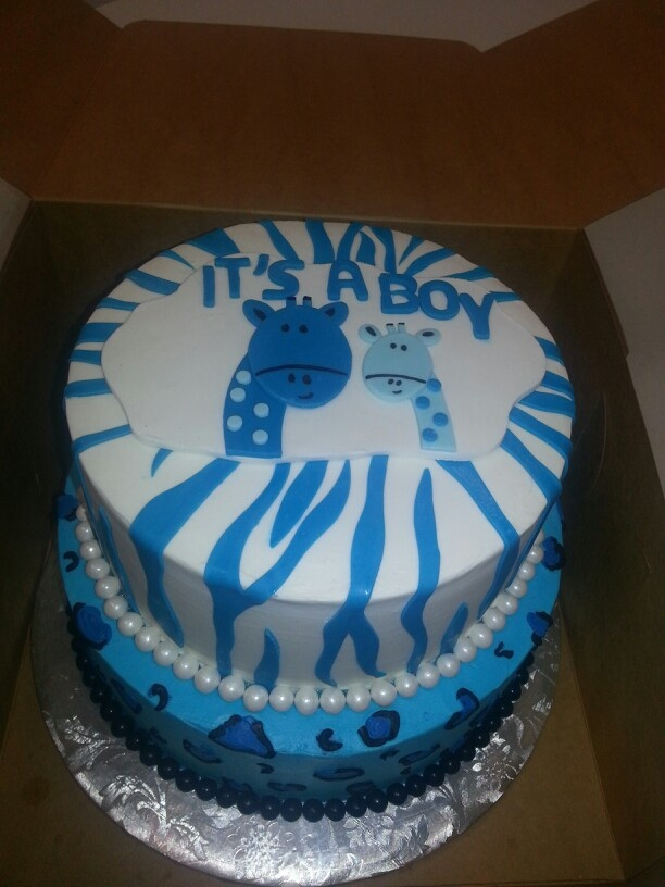 Goes Great With My Theme But The Giraffes Look Kinda Funny . Find This Pin  And More On Baby Shower Cakes ...