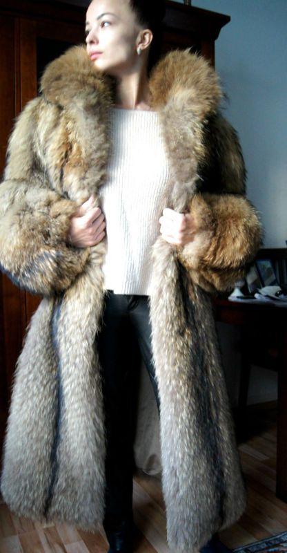 SALE SALE Pelzmantel Pelzjacke Finnraccoon fur coat шуба