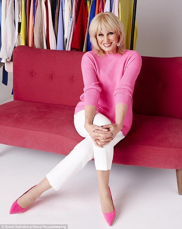 Looking good: Lumley revealed that she loves ageing and has no plans to go under the knife