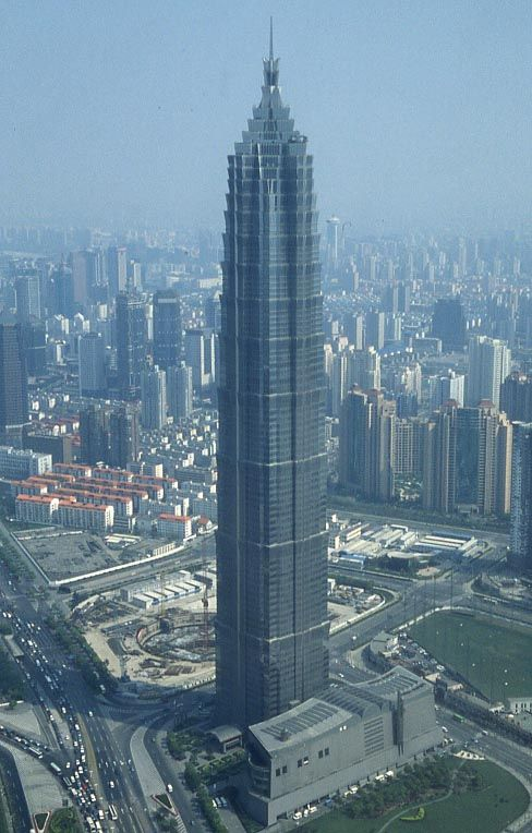 Jin Mao Tower - Shanghai, China (420.5m/1380ft) (SOM) (Adrian Smith)