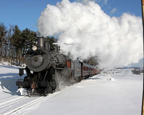 Strasburg Railroad steam engine in Lancaster County, PA