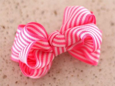 how to make a stripe ribbon bow