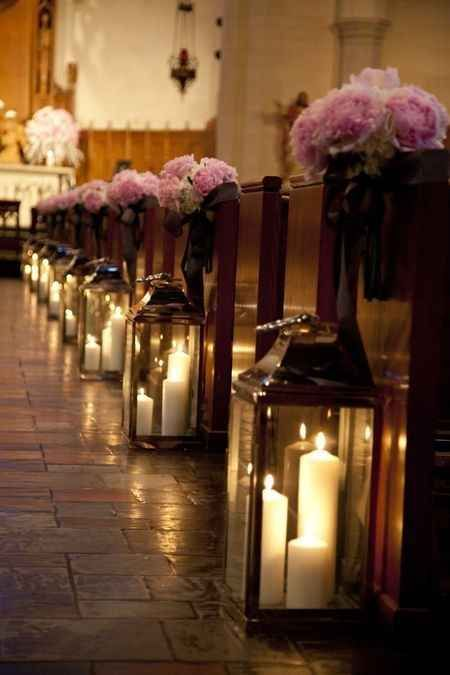 Candles in lanterns create a super romantic lighting effect for your ceremony.  Impossibly Romantic Wedding Ideas